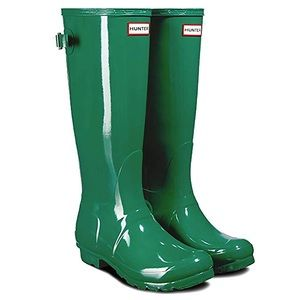 Hunter Tall Rain Boots Hyper Green size 11